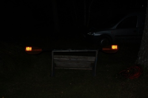 Resultatet i mörker med blixt