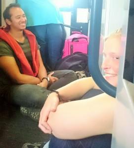 Mycket folk på tåget ner!